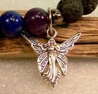 Fairy Charm Sterling Silver Plated Dangle Charm for Bracelet wth Jump Ring