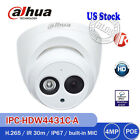 Dahua IPC-HDW4431C-A 4MP Dome IP Camera H.265 Mic Bracket Wall Mount DH-PFB203W