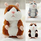 US Talking Hamster Mouse Records Speech Kids Cute Nod Mimicry Pet Toy Plush Gift