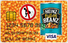 Baked Beans Novelty Plastic Credit Card