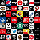 brand sticker - 30/46Pcs Famous Brand Skateboard Stickers Motorcycle Car Laptop Luggage Supreme