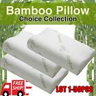 Cervical Contour Memory Foam Bed Bamboo Pillow Ergonomic Orthopedic Design LOT M
