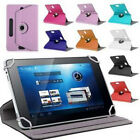 For 7 8 9 10.1 Inch Tablet PC Universal Leather 360 Rotate Flip Stand Case Cover