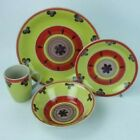 16 PIECE CERAMIC DINNER SET - VARIOUS COLOURS - PLATE, BOWL, SIDE PLATE, MUG