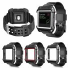 Rugged Protective Case With Silicone Wrist Strap Bands for Fitbit Blaze Watch US
