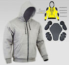 Men's Motorcycle Denim &  Kevlar Hoodie Full Protective Armour Fleece Protection