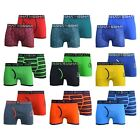 Mens Boxers 2Pk Crosshatch Trunks Boxer Shorts Striped Checked