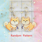 Cute Emoji Dog Corgi Hamster Acrylic Pendant Keyring Bag Car Key Chain Clasp