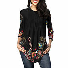 2018 Damen lose Langarm Baumwolle Casual Tunika Pullover Tops Fashion Bluse