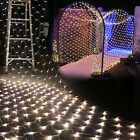 LED Waterproof Mesh Net String Fairy Lights Christmas Xmas Party Wedding Outdoor