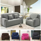 Kyпить Solid Modern Stretch Chair Sofa Cover 1 2 3 4 Seater Couch Elastic Slipcover US на еВаy.соm