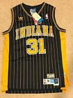 NWT Reggie Miller 31 NBA Indiana Pacers Swingman Jersey Throwback Hardwood S L