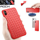 Fr iPhone X Slim Case Fit Wireless Charging Soft  Texture Weave Pattern Cover US