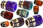 510 DRIP TIP RESIN COLOUR ACRYLIC MOUTH PIECE MULTI COLOURS SNAKE HONEYCOMB