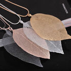 Ladies Women Leaves Leaf Necklace Sweater Pendant Long Chain Jewelry Choker Gift