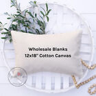 Wholesale Blank Pillow Cover | 12x18 10 oz Soft Cotton Canvas | WHITE or NATURAL