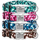 Personalized Dog Collar Custom Engraved Side Release Buckle Collars for Dogs S L