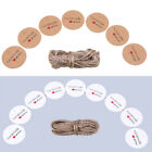 Lot 100pcs Kraft Paper Hang Tags Wedding Party Favor Label Gift Blessing Cards