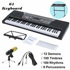 54 / 61 Keys Digital Music Electronic Keyboard Electric Piano Key Board Gift HT