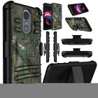 For LG Aristo 2/Tribute Dynasty Case Belt Clip Holster Stand Hard Phone Cover