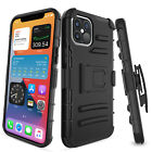For iPhone 12 Pro Max Rugged Case Belt Clip Holster Stand Hard Hybrid Cover