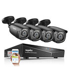 SANNCE 5in1 1080P HDMI 8CH DVR 1500TVL CCTV Security Camera System Night Vision