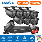 ANNKE HD 1080P HDMI 8CH 5IN1 DVR H.264+ 720P TVI CCTV Securi