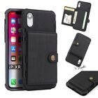 Credit Card Holder Flip Leather Protective Back Case Cover For iPhone X 8 7 Plus