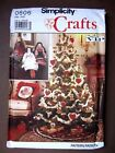 Simplicity Sewing Pattern Christmas Holiday Crafts Decorations Ornament You Pick