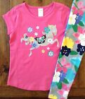 NWT Gymboree 5 6 7 8 10 Pink Horse Top & Floral Leggings Outfit Glitter Girls