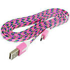 Braided USB Charger Cable Cord for PlayStation 4 Slim PS4 Dualshock controller
