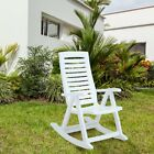 Rimax Outdoor Resin Plastic Rocking Chair - White cheap