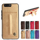 Magnetic Folding KickStand PU Leather Card Slot Back Case Cover for Huawei P10