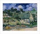 Van Gogh - Thatched Cottages at Cordeville fine art print poster - various sizes