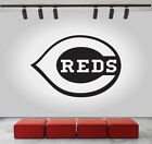 Cincinnati Reds Logo Wall Decal Sport Sticker Decor Black Vinyl NBA CG283 on Ebay