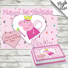 PEPPA PIG RECTANGLE BIRTHDAY CAKE TOPPER DECORATION PERSONALISED