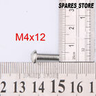 M4(4mm) Stainless Steel Solid Button Head Hex Socket Screws Building Fasteners