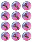 Unicorn rainbow girly floral custom edible cupcake Toppers Wafer or Icing x12