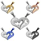 2 Pieces Parts Pendant Set Heart I Love You for Necklaces Chain Couples His&Hers
