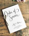 5 x Personalised Wedding Order of Service Covers, Wedding Order of Day, Booklet
