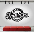 Milwaukee Brewers Logo Wall Decal Sport Sticker Decor Black Vinyl MLB CG286 on Ebay