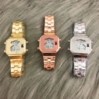 New Fashion Women's Men's Watch Stainless steel Wristwatch Digital Bear Watch image