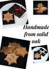 Solid Oak Star/ Snow Flake Valentine's Day*Mother's Day*Father's Day*Birthday