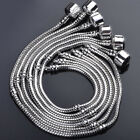 Wholesale Bulk Lots Charms Silver P Snake Chain Bangle Bead Bracelet Fit Chain