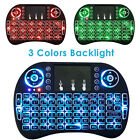 2.4G Backlit Wireles Touchpad Keyboard Air Mouse For PC Pad Android TV Boxes New