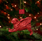 FLYING PUG BAUBLES Set of Four - in four stunning colours