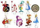 Alice in Wonderland Theme Edible Wafer Cup Cake Toppers Standing or Disc