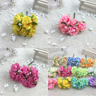 6 Heads Fake Small Rose Bouquet Bunch Flowers Artificial Silk Home Wedding Party
