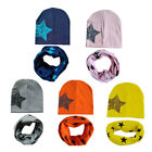 Внешний вид - Baby Hat Scarf Kids Girls Boys Cotton Winter Star Knit Skullies Beanies Scarves
