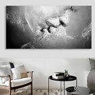 UK Black & White Love Kiss Abstract Art Canvas Painting Wall Print Picture Decor